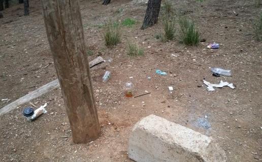 Σκουπίδια στο δάσος.